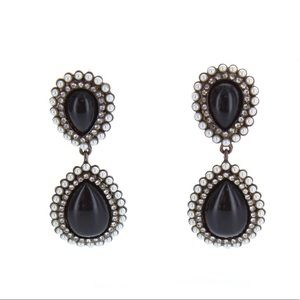 Classy black beaded earrings